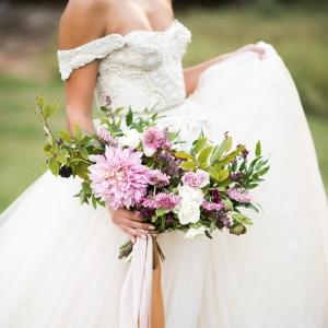 romantic bridal portraits by Andrea Elizabeth Photography on Glamour & Grace
