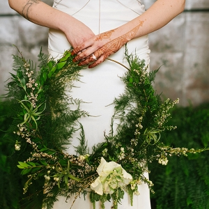 organic industrial wedding inspiration by Christiansen Photography on Glamour & Grace