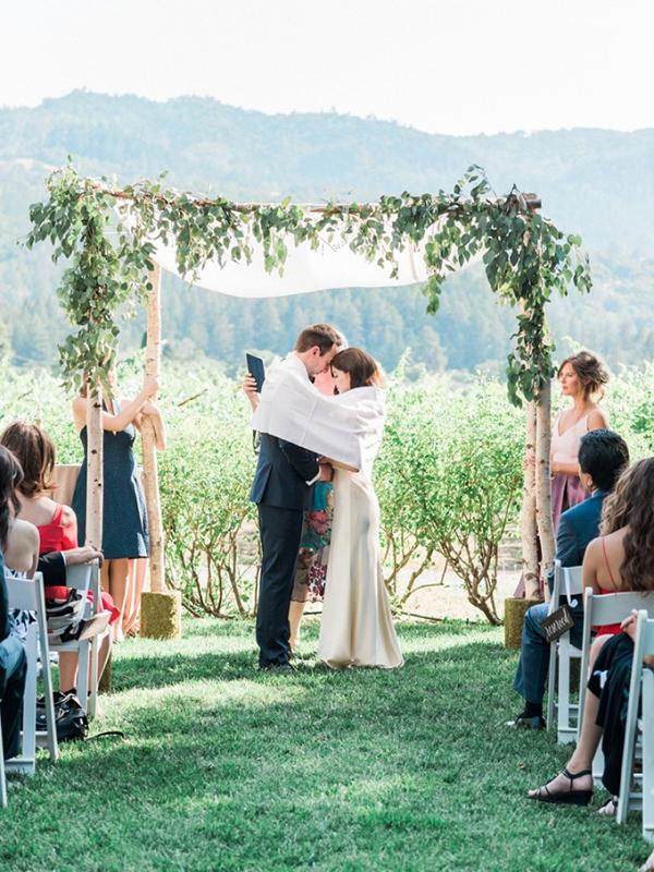 romantic Napa wedding by White Ivory Photography on Glamour & Grace