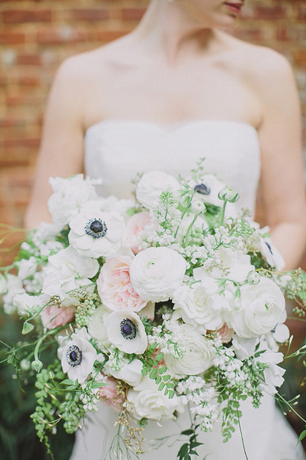 Lush white and blush bouquet
