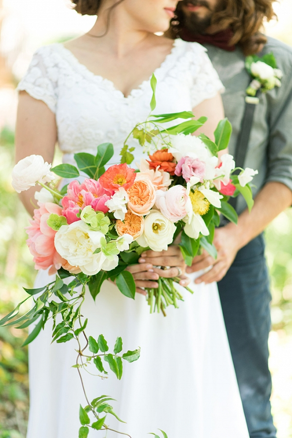 romantic peony wedding inspiration from Lori Lynn Photography on Glamour & Grace