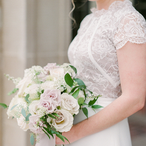 Pale pink and ivory bridal bouquet