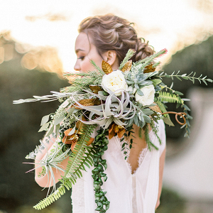 Greenery and fern bridal bouquet