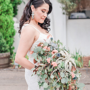 Oversized succulent bridal bouquet