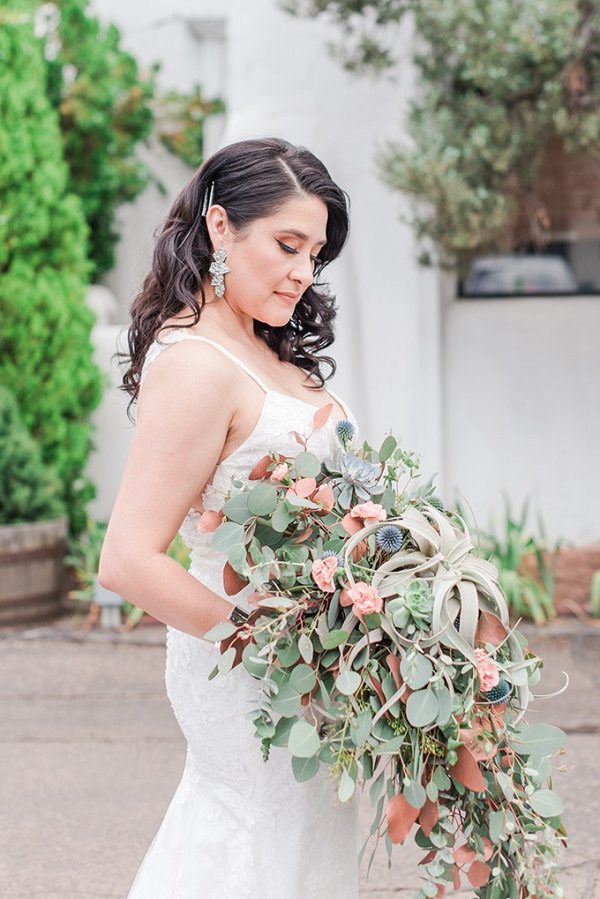 Oversized succulent bridal bouquet