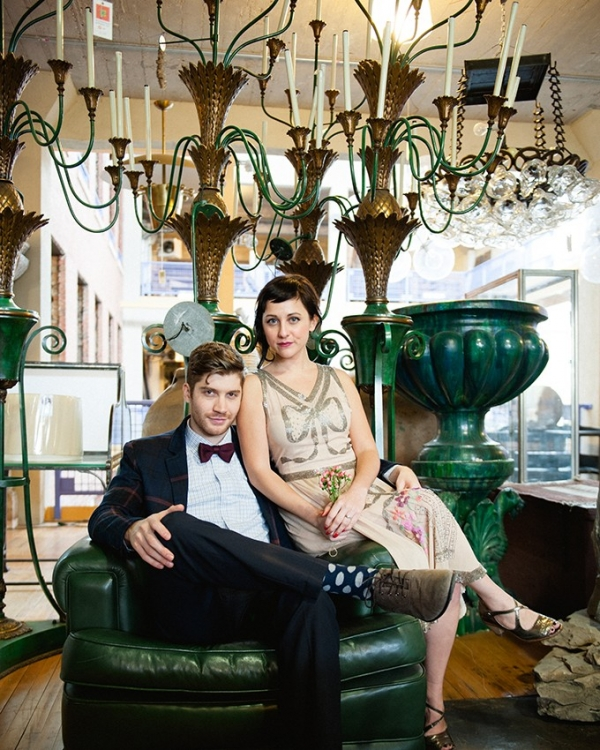 1920s Chicago engagement by Roots Of Life Photography on Glamour & Grace