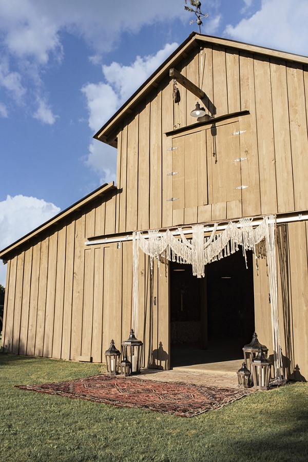 Boho barn wedding