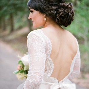 intimate vintage mountain wedding by Green Blossom Photography on Glamour & Grace