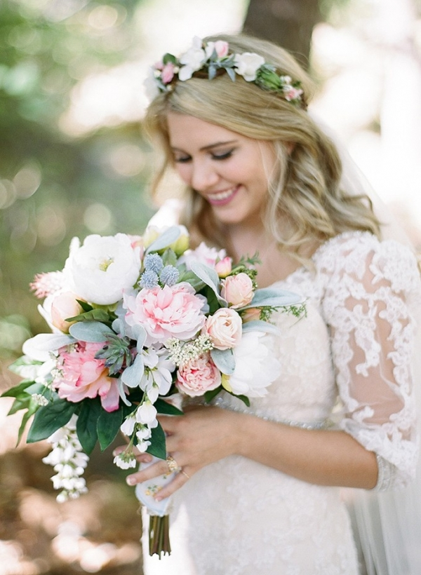 handmade pastel wedding on Glamour & Grace