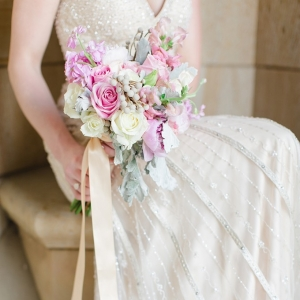 Romantic pink wedding inspiration on Glamour & Grace