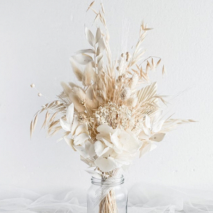 white and cream wedding flower bouquet