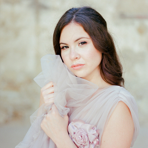 Beautiful bridal portrait captured on film