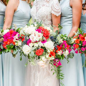 sea glass colored bridesmaid dresses