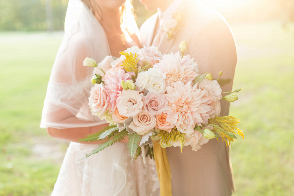 Stunning bouquet in golden sunlight