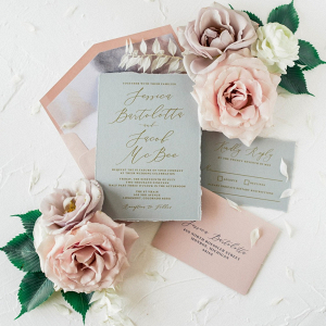 Gray Mauve Invitation Suite by Brown Fox Creative