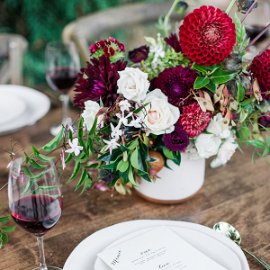 Rustic Autumn Winery Wedding Decor