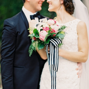 Stylish Modern Bride and Groom in Black Tie