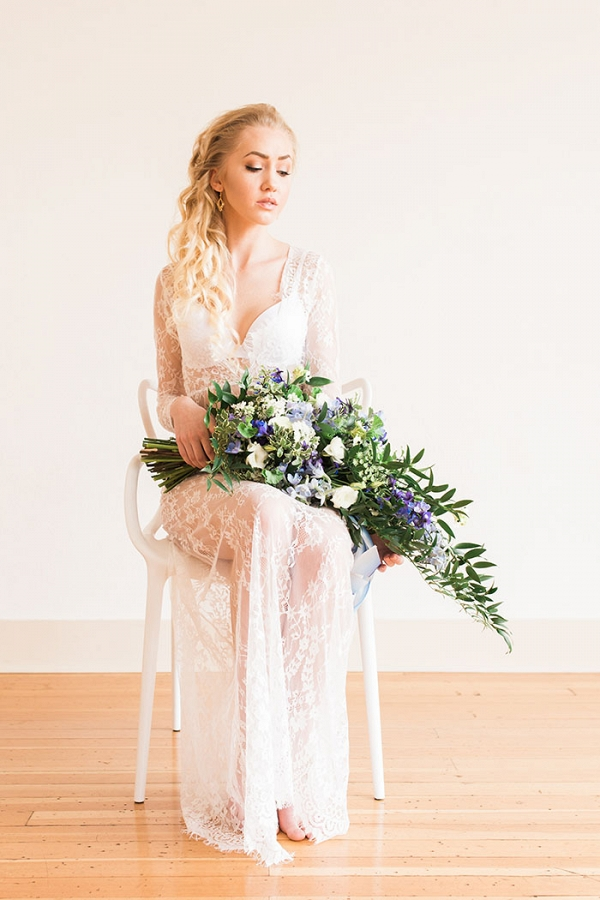 Bridal Boudoir with a Lace Robe