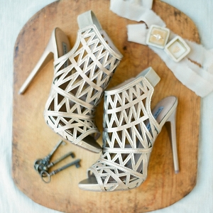 Peep Toe Cage Booties