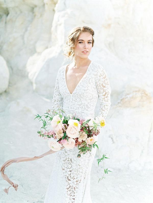 Romantic Bohemian Bride in the Colorado Desert