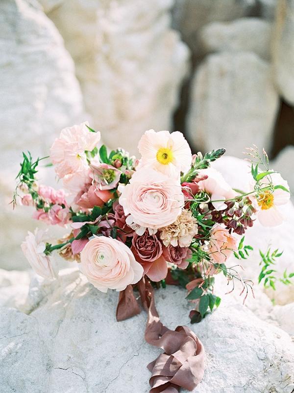 Sunset Colored Bouquet for a Bohemian Desert Wedding