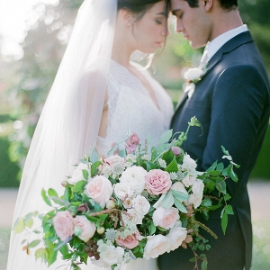 Romantic Lavender Garden Wedding Shoot