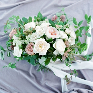 Mauve and Ivory Garden Bouquet