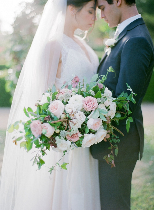 Romantic Lavender Garden Wedding Shoot