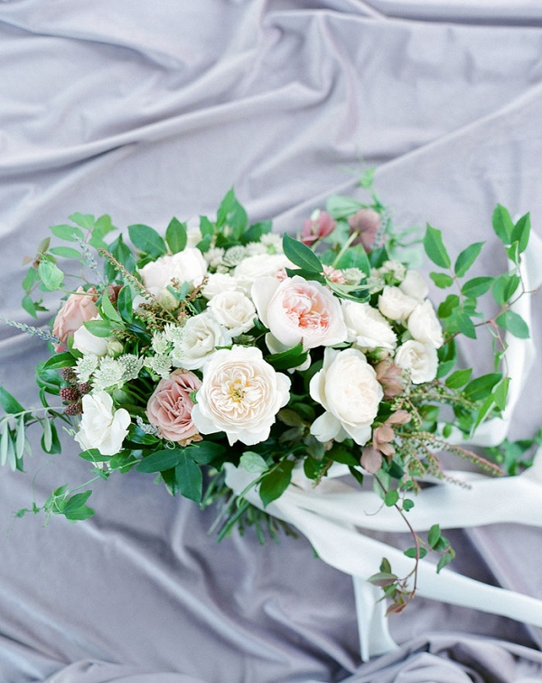 Mauve and Ivory Garden Bouquet