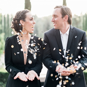 Confetti Toss for a Modern Engagement