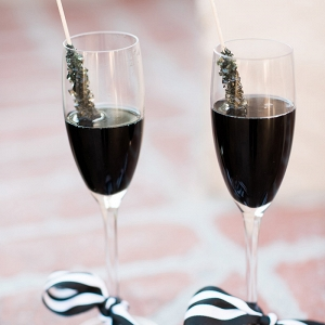 Champagne with Black Cherry Rock Candy