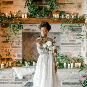 Chic Holiday Inspired Winter Wedding