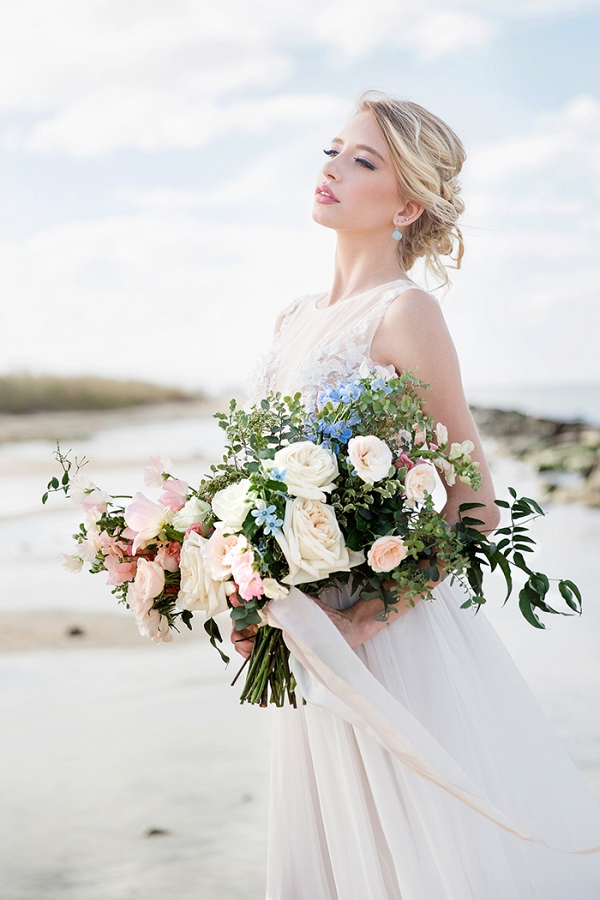 Breathtaking Sunrise Bridal Portraits on the Beach