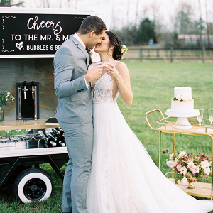 Color + Champagne for a Vibrant Farm Wedding
