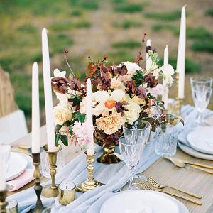 Color + Champagne for a Vibrant Farm Wedding