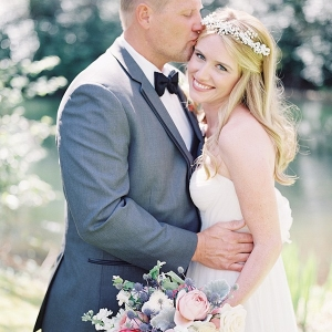 Romantic Portraits for a Summer Garden Wedding
