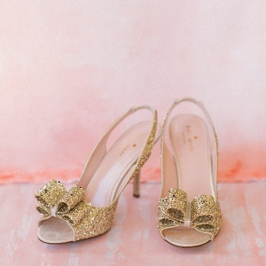 Gold Glitter Kate Spade Wedding Heels