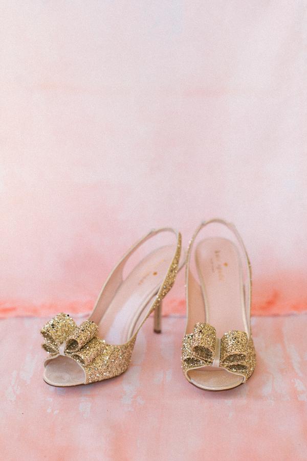 Gold Glitter Kate Spade Wedding Heels
