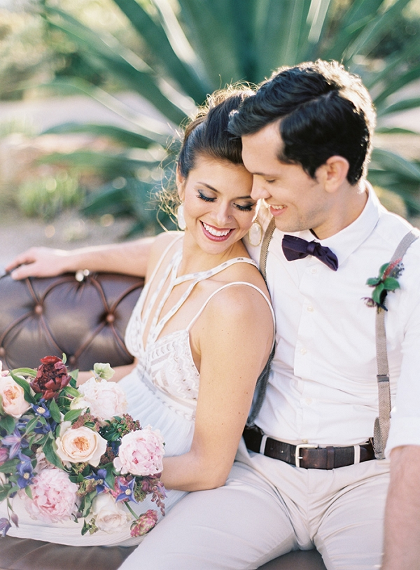 Modern Glam Bride and Groom for a Desert Chic Wedding