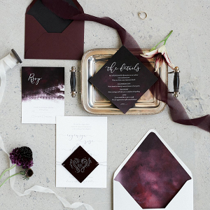 Modern Moody Invitation Suite with Geometric Details