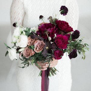 Ombre White, Mauve, and Burgundy