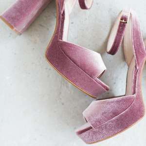 Modern Mauve Velvet Wedding Shoes