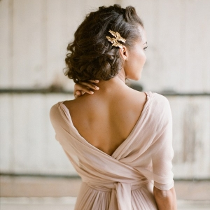 Delicate Latte Chiffon Wedding Dress
