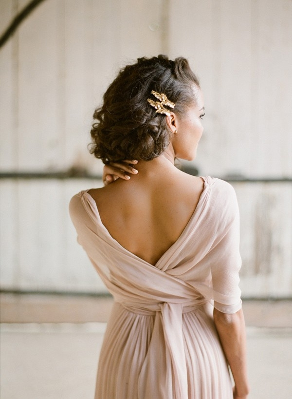 Delicate Latte Chiffon Wedding Dress