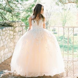 Ethereal Pastel Wedding Dress