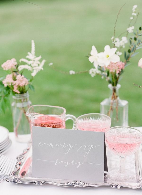 Coming Up Rosé Wedding Cocktail
