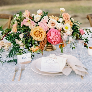 Preppy and Colorful Farm Table Decor