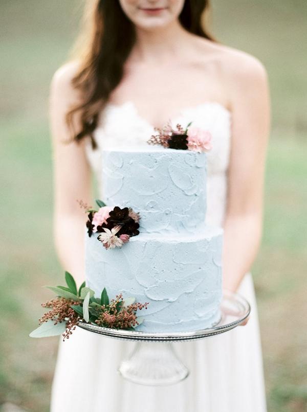 Buttercream Wedding Cake with Petite Flowers