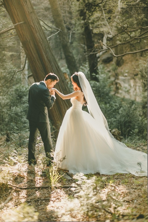 Fairy Tale Bridal Portraits in the Mountains