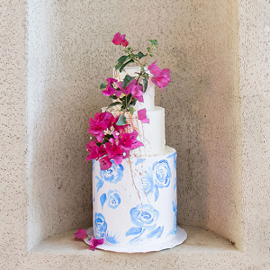 Vibrant Tropical Wedding Ideas in Pink and Blue
